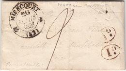 LETTRE.    20 MARS 41 .    VOSGES   MIRECOURT.     BOITE  RURALE  =    PAREY-SOUS-MONTFORT    / 82 - 1801-1848: Precursori XIX