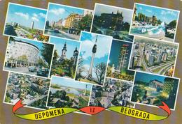 Serbie Serbia - Belgrade Beograd - Multiviews - Uspomena 12 Beograda - Turisticka Stampa - 2 Scans - Serbia