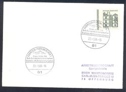 Germany Deutschland 1966 Card; Bob Sleigh Bobeuropameisterschaften; Biathlon Weltmeisterschaften World Championship