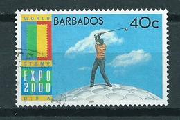 2000 Barbados 40 Cent Golf Used/gebruikt/oblitere - Barbados (1966-...)