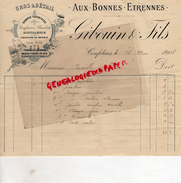 16 -  CONFOLENS - BELLE FACTURE GIBOUIN  & FILS - AUX BONNES ETRENNES - DISTILLERIE DENREES COLONIALES -1908 - France