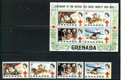 "GRENADA 1970 ""RED CROSS"" #395 - 398 & 398a $4.75 MNH $1.00 - Grenada (1974-...)"