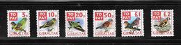 OA 8047 / GIBRALTAR 2002 Yvert Timbres Taxes 26 à 32 ** - Oiseaux - Gibraltar