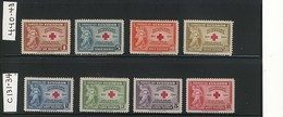 "ECUADOR 1945 ""RED CROSS"" #440-443 & C131-C134 MNH $55.90 - Ecuador"