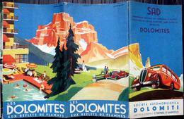 ITALIA DOLOMITES GUIDE TOURISTIQUE 1937 PHOTOS CARTES ET ILLUSTRATEUR ZULION - Dépliants Turistici