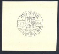 Germany Deutschland 1960 Cancellation: Europa Meisterschaft Im Eisschissen Regen; European Championship In Curling
