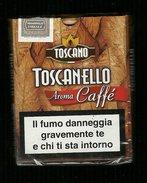 Tabacco Pacchetto Di Sigari Italia - Toscanello Aroma Caffè Da 5 Pezzi - Tobacco-Tabac-Tabak-Tabaco - Scatola Di Sigari (vuote)
