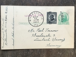 B14 United States Etats-Unis USA Stationery Entier Postal Ganzsache Uprated Psc From Millersville To Germany