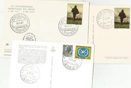 MILITARI 50° Anniversario Reistenza Sul Piave 1917 - 1967, 3 Cartoline - Guerra 1914-18