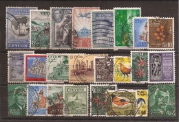 Sellos Stamps Ceylon Used - Usados - Sellos