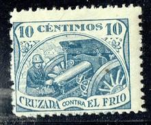 Cruzada Contra El Frio   Soldato Y Cañon  Azul  * - Spanish Civil War Labels