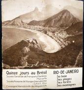BRESIL BRASIL GUIDE DE VOYAGE QUINZE JOURS AU BRESIL ET RIO DE JANEIRO NOMBREUSES PHOTOS - Dépliants Touristiques