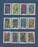 1300 Au 1311 De 2016 - Adhésif Oblitéré - Fleurs à Foison  - Série De 12 Timbres . Multicolore. - France