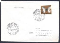 Germany Deutschland 1962 Cover: Skiing; Kidparadies Im Fichtelgebirge Butterfly Papilon Mariposa Scmeterling