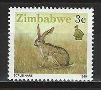 Zimbabwe Mi 420 ** MNH Lepus Saxatilis