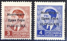 Francobolli Da 3 E 4 D - Francobolli Nuovi MH* - Montenegro