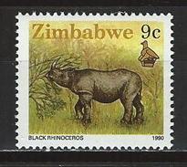 Zimbabwe Mi 423 ** MNH Diceros Bicornis