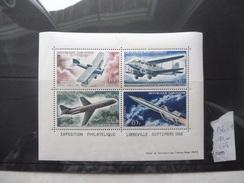 Feuillet Avion Gabon Exposition Libreville 1962 En Neuf Bloc 1 - Gabon (1960-...)