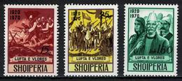 Albania 1970 _ The 50th Anniversary Of The Vlora Wars - Full Serie MNH** - Albania