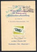 Germany Deutschland DDR 1966 Card: Luge Schlitten World Championship ; Schlitten Post, Kutschenpost;