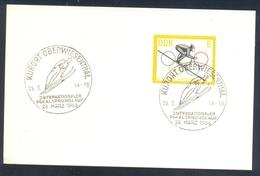 Germany Deutschland DDR 1964 Card: Ski Jumping Skispringen; Kurort Oberwiesenthal International Pokal Sprunglauf