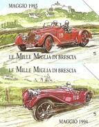 *ITALIA: PRIVATE RESE PUBBLICHE - MILLE MIGLIA 1993/94* - Coppia Di Schede Usate - Italy