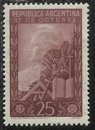ARGENTINA 1948 PRESIDENT JUAN PERON CENT. 25 25c MNH - Nuovi