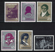 Albania 1970 _ The 200th Anniversary Of The Birth Of Ludwig Van Beethoven - Full Serie MNH** - Albania