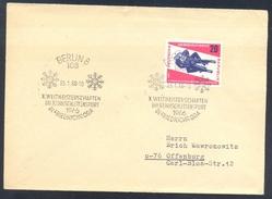 Germany Deutschland DDR 1966 Cover: Schlitten Luge Worldchampionship; Rennschlitten Weltmeisterschaften Friedrichroda