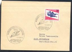 Germany Deutschland DDR 1966 Cover: Ski Jumping Skispringen; Luge Schlitten Rodeln World Championships;