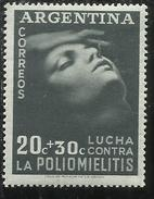 ARGENTINA 1949 POLIO MEDICINE POLIOMIELITIS CENT. 20 + 30 MNH - Nuovi