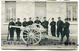 - Carte Photo -  Militaria -Beau Canon  120, 125 ?, Du 56 éme Régiment, Artillerie, Pour Montpellier, Non écrite, Scans. - Matériel