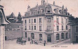 Estavayer, Diligence Devant Le Bureau De Poste, Attelage (18.3.08) Taches - FR Fribourg