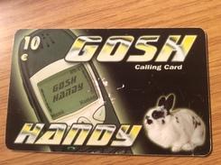 Gosh / Rabbit Animal 10 Euro  - Little Printed  -   Used Condition - [2] Prepaid