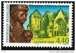 N° 3128  Année 1997  Moutier D´Ahun Faciale 4,40 Francs - France