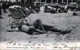 ATLANTIK CITY - Asleep On The Sand, Gel.1905 - Atlantic City