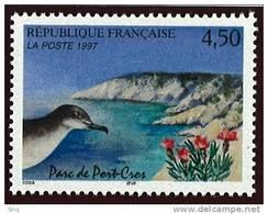 N° 3057  Année 1997 Parc De Port Cros  Faciale 4,50 Francs - France