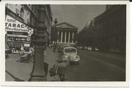 Paris,France,Egl.de La Madelaine 1961.Car,Small Photo - Places