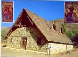 Cyprus - Church Of Panayia Podithou Galata Village 1502 - Formato Grande Non Viaggiata - E - Cipro