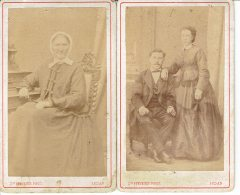 08 Photos Anciennes Portrait De Dame Et Couple Desiré Stevenin A Sedan Ardennes - Anonymous Persons