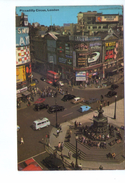 S2713 POSTCARD: UK - LONDON,  Piccadilly Circus + BEATLES POSTER - Auto Cars Voitures Bus Autobus _ WRITED 1968 - St. Paul's Cathedral