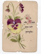 *** - Cartes Celluloïdes - Lot De 4 Cartes De Petit Format (3 De Format 6x10 Et 1 De 9x5) - Peintes à La Main. - Other