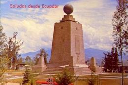 Saludos Desde Ecuador - Monumento Equinoccial Latitud 0-0-0 21 Km Al Norte De Quinto - Equador S,am - Formato Grande Non - Ecuador