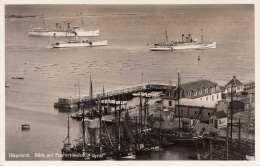 HELGOLAND - Blick Auf Fischereihafen Und Reede, Gel.1936? - Helgoland