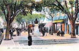 ANTIBES - Monument Et Place Championett - Antibes - Vieille Ville