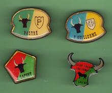 TAUROMACHIE - CORRIDA  Lot De 4 Pin's Differents *** 0059 - Bullfight - Corrida