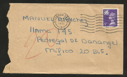J)1971 BRITAIN, QUEEN ELIZABETH II AIRMAIL CIRCLATED COVER, FROM BRITAIN TO MEXICO - British Virgin Islands