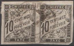 Emission Générale Colonie Française Taxe 1884 N° 6  Paire Oblitéré En Cochinchine (D31) - Portomarken