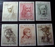 MONACO # 737-742. Drawings By Leonardo Da Vinci. MH (*) - Unused Stamps