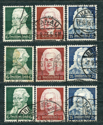 Deutsches Reich 1935, MiNr 573-575, Used (2) - Lot Of 3 Sets - Some Nice Postmarks - Used Stamps